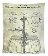 1902 Beer Tapping Device Patent Tapestry