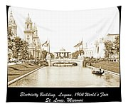 1904 World's Fair Lagoon And Electricity Building Tapestry
