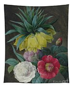 Four Peonies And A Crown Imperial  Tapestry