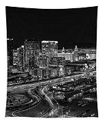 Las Vegas Luxor Sky Beam Tapestry by Susan Candelario