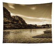 On The Rio Grande River Tapestry