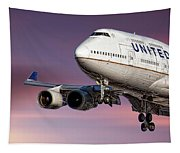 United Airlines Boeing 747-422 Tapestry