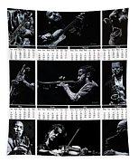 2019 High Resolution R Young Art Musicians Calendar Tapestry