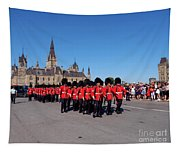 Changing Of The Guard In Ottawa Ontario Canada Tapestry