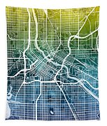 Minneapolis Minnesota City Map Tapestry