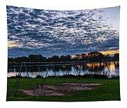 Obear Park Sunset Tapestry