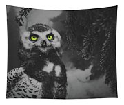 Winter Owl Tapestry