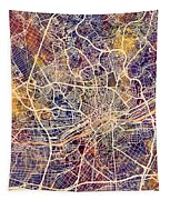 Frankfurt Germany City Map Tapestry