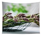 Fresh Green Asparagus Tapestry