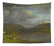 On The Delaware River Tapestry