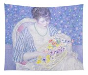 The Basket Of Flowers Tapestry