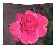 Pink Rose  Tapestry