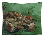 A Crab On Its Back  Tapestry