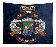 75th Ranger Regiment - Army Rangers Special Edition Over Blue Velvet Tapestry