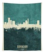 Birmingham England Skyline Tapestry