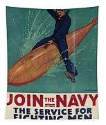 Wartime Propaganda Poster Tapestry