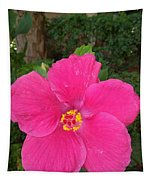 Bright Pink Hibiscus Tapestry