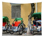 A Cyclo Driver Takes A Nap, In Hoi An, Vietnam. Tapestry