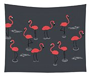 A Flamboyance Of Flamingos  Tapestry