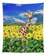 A Friendly Giraffe Hello Tapestry
