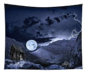 A Haunted Mountain Pass Tapestry