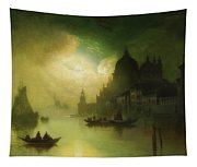 A Moonlit Night Over Venice Tapestry