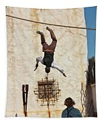 A Pair Of Stuntmen Perform At Old Tucson Tapestry
