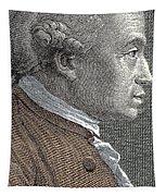 A Portrait Of Immanuel Or Emmanuel Kant Tapestry