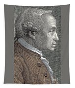 A Portrait Of Immanuel Or Emmanuel Kant Tapestry