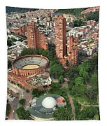 A View Of Downtown Bogota Tapestry