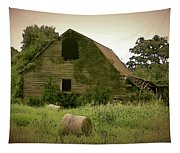 Abandoned Barn And Hay Roll 2018d Tapestry