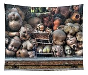 Abandoned Doll Heads Tapestry