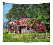 Abandoned Old Farm House Tapestry