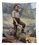 Abe Lincoln The Rail Splitter  Tapestry