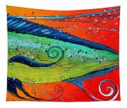 Abstract Mahi Mahi Tapestry