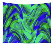 Abstract Waves Painting 0010094 Tapestry