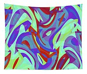 Abstract Waves Painting 0010102 Tapestry