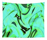 Abstract Waves Painting 0010107 Tapestry