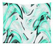 Abstract Waves Painting 0010111 Tapestry