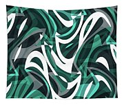 Abstract Waves Painting 0010112 Tapestry