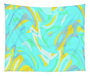 Abstract Waves Painting 0010114 Tapestry