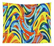 Abstract Waves Painting 007176 Tapestry