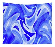 Abstract Waves Painting 007183 Tapestry
