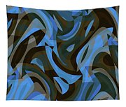 Abstract Waves Painting 007203 Tapestry