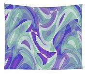 Abstract Waves Painting 007217 Tapestry