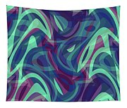 Abstract Waves Painting 007219 Tapestry