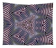 Abstract Zebra Design Tapestry