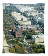 Aerial View Of Museums On The South Side Of The National Mall In Tapestry