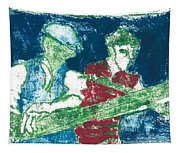 After Billy Childish Painting Otd 33 Tapestry