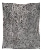 After Billy Childish Pencil Drawing 1 Tapestry